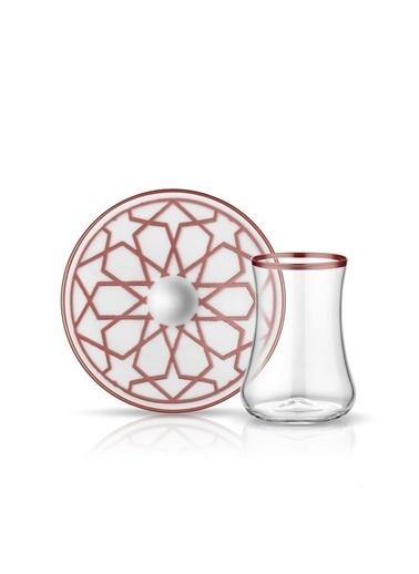 Koleksiyon Dervısh Yıldız Bakır 6'Lı Çay Seti Renkli